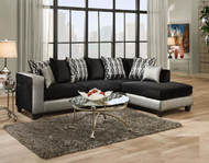 Shimmer Steel Sectional