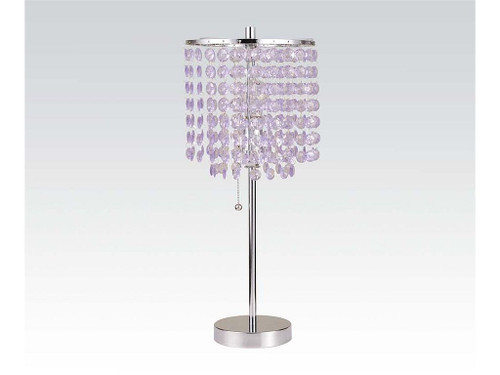 LAVENDER CRYSTAL TABLE LAMP