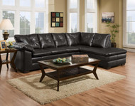 COWBOY BLACK 2-PC SECTIONAL