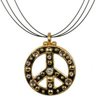 MICHAL GOLAN PEACE SIGN PENDANT N2320