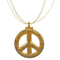 MICHAL GOLAN PEACE SIGN PENDANT N2319