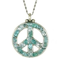 MICHAL GOLAN PEACE SIGN PENDANT N2318