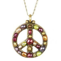 MICHAL GOLAN PEACE SIGN PENDANT N2317