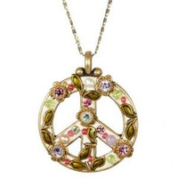 MICHAL GOLAN PEACE SIGN PENDANT N2316