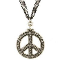 MICHAL GOLAN PEACE SIGN PENDANT N2314