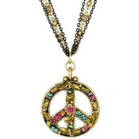 MICHAL GOLAN PEACE SIGN PENDANT N2311-a