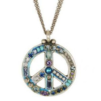 MICHAL GOLAN PEACE SIGN PENDANT N2313