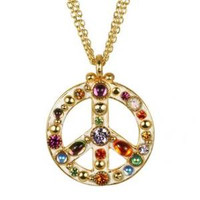 MICHAL GOLAN PEACE SIGN PENDANT N2315