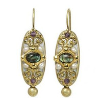 MICHAL GOLAN VINTAGE VIOLET EARRINGS S7217