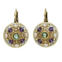 MICHAL GOLAN VINTAGE VIOLET EARRINGS S3859