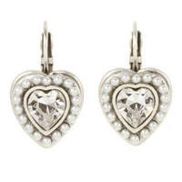 MICHAL GOLAN BRIDAL CRYSTAL HEART EARRINGS