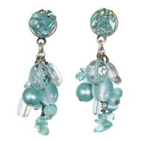 Michal Golan Aqua Marine Crystal Earrings S7211