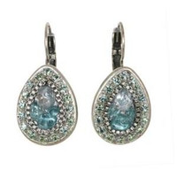 Michal Golan Aqua Marine Crystal Earrings S7210