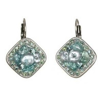 Michal Golan Aqua Marine Crystal Earrings S7204