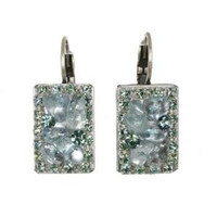 Michal Golan Aqua Marine Crystal Earrings S7203