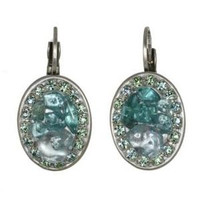 Michal Golan Aqua Marine Crystal Earrings S7201