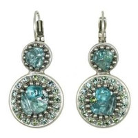Michal Golan Aqua Marine Crystal Earrings