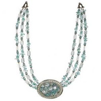 Michal Golan Aqua Marine Crystal Necklace