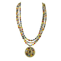 Michal Golan Earthly Flower Necklace N2121