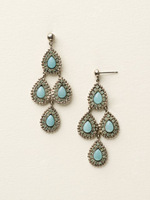 Sorrelli Sea Glass Crystal Earrings~ECY42ASSGL