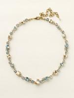 Sorrelli Riverstone Crystal  Necklace~ NCD2AGRIV