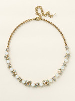 Sorrelli Riverstone Crystal  Necklace~ NCF6AGRIV