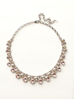 Sorrelli Satin Blush Crystal  Necklace~ NCT14ASSBL
