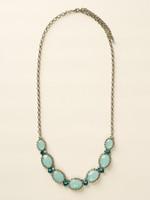 Sorrelli Sea Glass Crystal Necklace~NCY1ASSGL