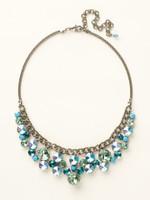 Sorrelli Sea Glass Crystal Necklace~NCW10ASSGL