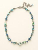Sorrelli Sea Glass Crystal Necklace~NCD2ASSGL