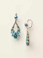 Sorrelli Sea Glass Crystal Earrings~ECQ29ASSGL