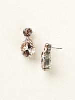Sorrelli Satin Blush Crystal  Earrings~ ECM9ASSBL