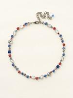 Sorrelli Stars and Stripes Necklace~NAQ3ASUSA
