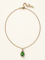 **SPECIAL ORDER**Sorrelli Green Apple Crystal Necklace~NCM19AGGA