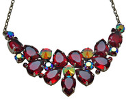 Cranberry Crystal Necklace by Sorrelli~NCP3ASCB