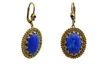 **RARE & RETIRED**SWEET SAPPHIRE  CRYSTAL EARRINGS  BY SORRELLI~ECU32BGSS