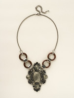 BLACK & WHITE CRYSTAL NECKLACE BY SORRELLI~LISA OSWALD COLLECTION~NCR138ASBCL