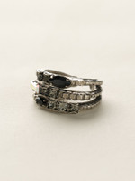 **SPECIAL ORDER**EVENING MOON CRYSTAL RING BY SORRELLI~RCT29ASEM