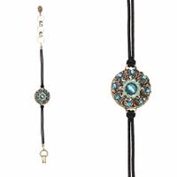 Michal Golan Atlantis Collection - Round Bracelet on Leather Cord ~ SB498