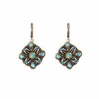 Michal Golan Atlantis Collection - Floral Diamond Drop Earrings ~ S7829