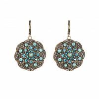 Michal Golan Atlantis Collection - Round Floral Drop Earrings ~ S7826