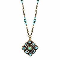 Michal Golan Atlantis Collection - Floral Diamond Pendant Necklace ~ N3401