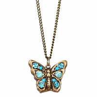 Michal Golan Atlantis Collection - Butterfly Pendant on Fine Gold Chain Necklace ~ N3394