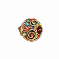Michal Golan Confetti Collection - Confetti Round Adjustable Ring ~ R280