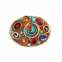 Michal Golan Confetti Collection - Oval Pin ~ P698
