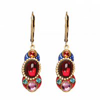 Michal Golan Confetti Collection -  Pear Lever Back Earrings ~ S7667