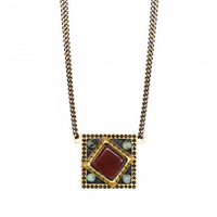 Michal Golan Earth Collection - Small Square Pendant Necklace ~ N3641