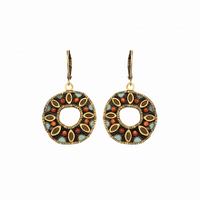 Michal Golan Earth Collection - Medium Open Circle Pendant Lever Back Earrings ~ S8024