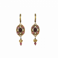 Michal Golan Garnet Collection - Tiny Oval Earrings ~ S7959