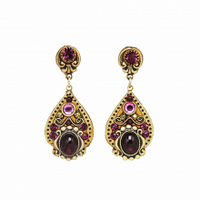 Michal Golan Garnet Collection - Teardrop Dangle Post Earrings ~ S7975